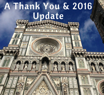 A Thank You & 2016 Update
