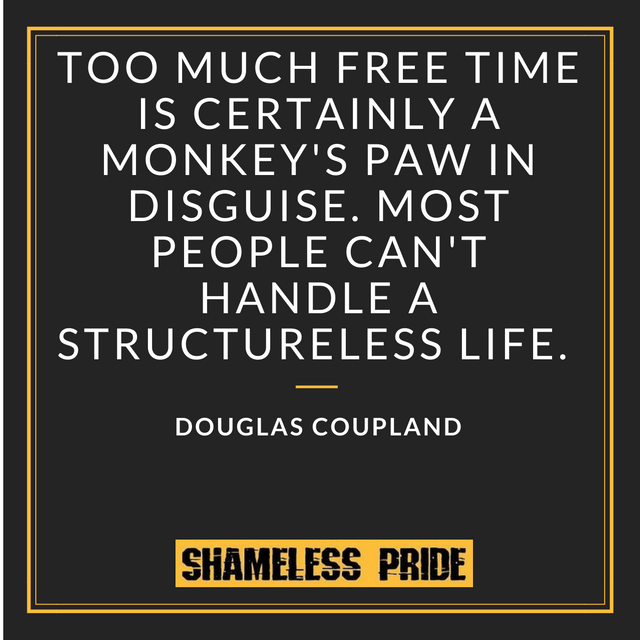 Douglas Coupland free time - Shameless Pride
